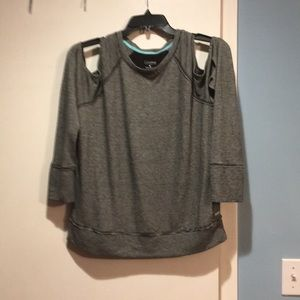 Calvin Klein cold shoulder sweatshirt